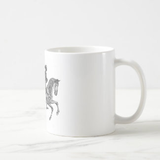 Death By Canter - Skeleton Horse At Canter Classic White Coffee Mug