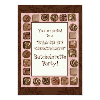 Death by Chocolate Batchelorette Party Invitation