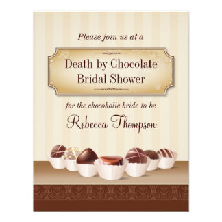 Death by Chocolate Bridal Shower Custom Announcements