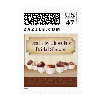 Death by Chocolate Bridal Shower Postage