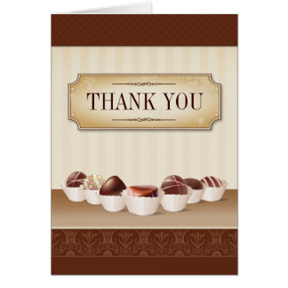 Death by Chocolate Bridal Shower Thank You Card