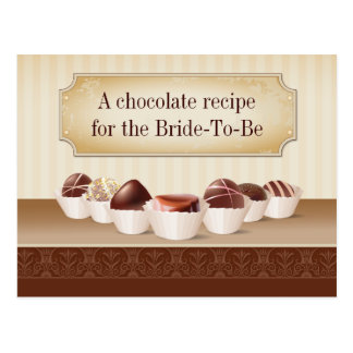 Death by Chocolate Recipe Postcard