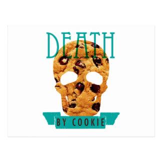 Death by cookie postcard