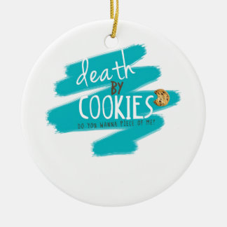 Death by Cookies II Double-Sided Ceramic Round Christmas Ornament