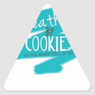 Death by Cookies II Triangle Sticker