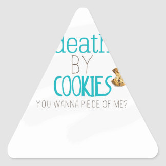 Death by Cookies Triangle Sticker