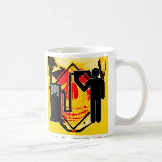 Death by gas nozzle coffee mug
