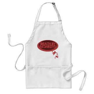 Death by Monkeys Adult Apron