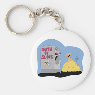 Death by Slots T-shirts and Gifts. Keychain