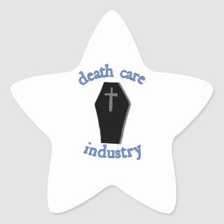 Death Care Industry Star Sticker