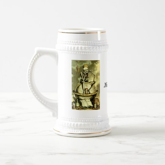 Death Conquers the World Momento Mori Beer Stein
