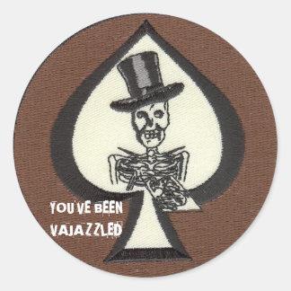 Death Dealer Vajazzle Round Stickers