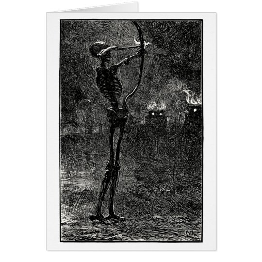 Death dealing arrows card