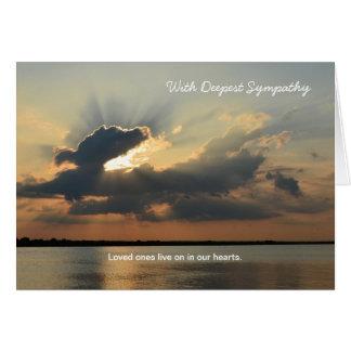 Death Deepest Sympathy Greeting Card