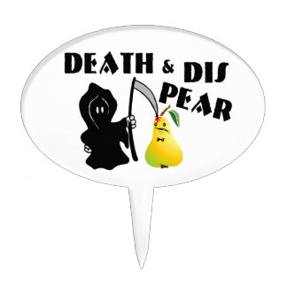 Death & Dis Pear Cake Topper
