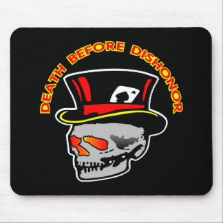 Death Dishonor Skull Black Mouse Pad