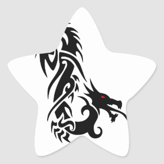 death dragon star sticker