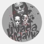 Death Eater Avada Kedavra Round Sticker