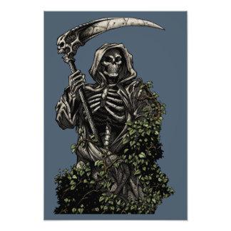 Death - Evil Skeleton Grim Reaper with Scythe Photograph