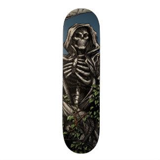 Death - Evil Skeleton Grim Reaper with Scythe Skateboard
