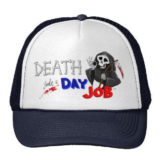 Death Finds a Day Job Classic Cartoon Cap Trucker Hat
