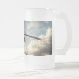 Death From Above Frosted Glass Beer Mug
