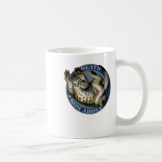 Death from Above kitty mug