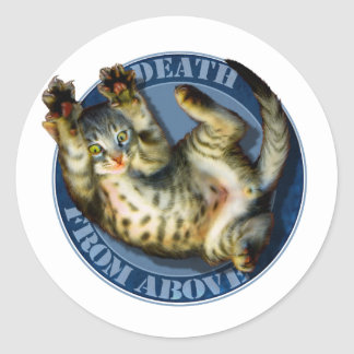 Death From Above kitty stickers