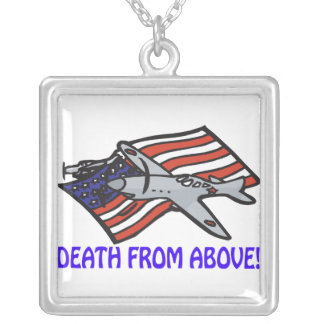 Death From Above Square Pendant Necklace