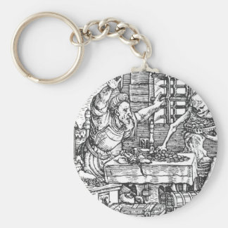 Death from The Dance of Death Hans Holbein Keychain