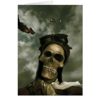 Death From the Skies Card zazzle_card