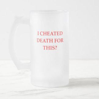 DEATH FROSTED GLASS BEER MUG