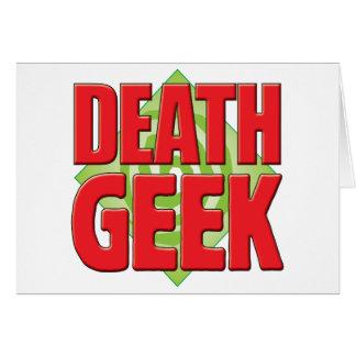 Death Geek v2 Greeting Card