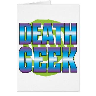 Death Geek v3 Greeting Cards