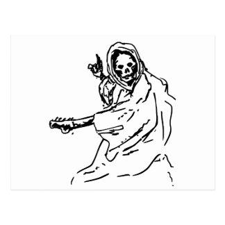 death guitar black postcards
