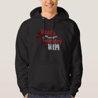 Death Has No Mastery gothic style Christian hoodie