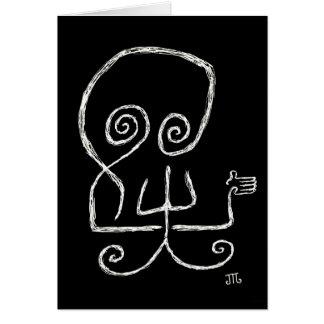 """Death Hates Goodbyes"" (Black) - Card"
