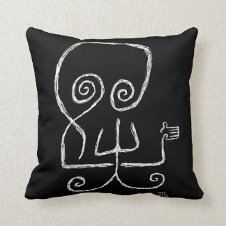 """Death Hates Goodbyes"" (Black) - Pillow"