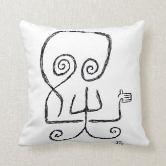"""""""Death Hates Goodbyes"""" (White) - Pillow"""