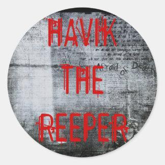 death, HAVIK THE REEPER Round Sticker
