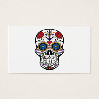 Death head flowers business card