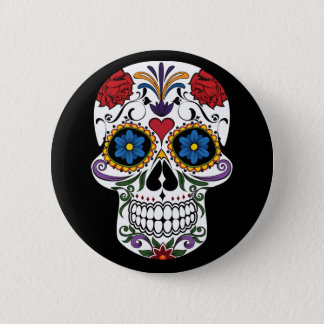 Death head flowers button