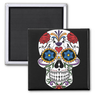 Death head flowers magnet