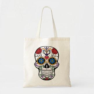 Death head flowers tote bag
