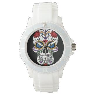 Death head flowers wristwatch