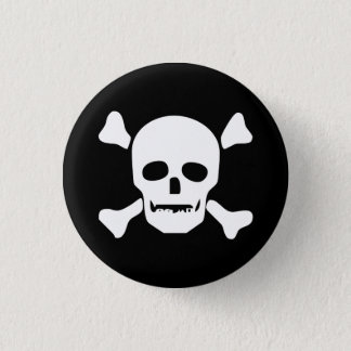 Death Head Skull Pinback Button