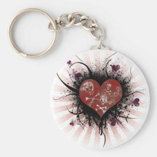 Death heart keychain