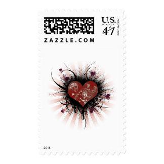 Death heart postage stamp