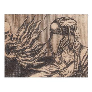 Death Illustration. Circa 1792. Postcard