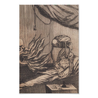 Death Illustration. Circa 1792. Poster